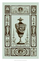 Urns in Celadon II Fine Art Print