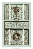 Panel in Celadon II Fine Art Print