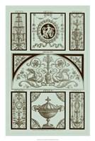 Panel in Celadon III Fine Art Print