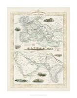 Overland Routes- India & China Fine Art Print
