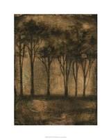 Bronzed Treeline I Framed Print