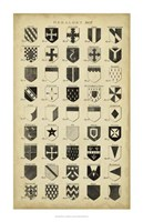 Vintage Heraldry II Fine Art Print