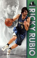 Timberwolves - R Rubio 12 Wall Poster