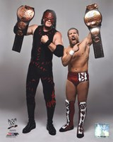 Daniel Bryan & Kane with the Tag Team Championship Belts 2012 Posed Fine Art Print