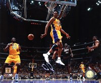 Kobe Bryant & Shaquille O'Neal 2001 NBA Finals Action Fine Art Print