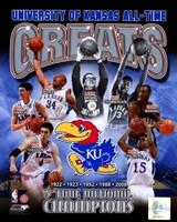 University of Kansas Jayhawks All Time Greats Composite Fine Art Print