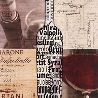 Wine Collage Fine Art Print
