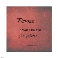 Patience Proverbs 19:11 Framed Print