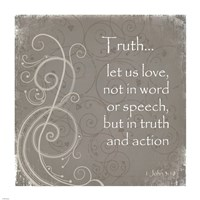 Truth Quote Fine Art Print