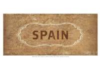 Vintage Sign - Spain Fine Art Print
