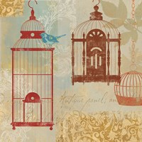Bird on a Cage I Fine Art Print