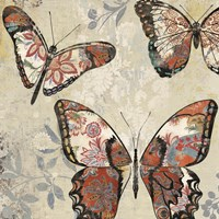 Patterned Butterflies I Fine Art Print