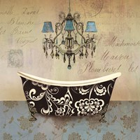 French Vintage Bath II - Mini Fine Art Print