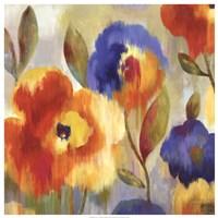 Ikat Florals - Oversize Fine Art Print