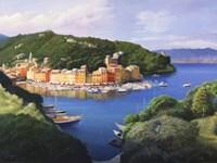 Vista dal monte di Portofino Fine Art Print