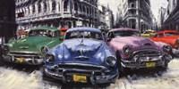 Classic American Cars in Havana Fine Art Print