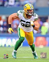 Clay Matthews 2012 Action Fine Art Print