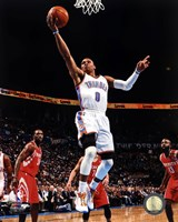 Basketball - Russell Westbrook 2012-13 Action Framed Print