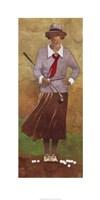 Vintage Woman Golfer Framed Print