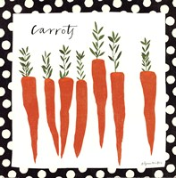 Simple Carrots Framed Print