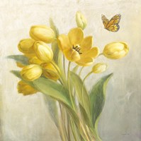 Yellow French Tulips Fine Art Print