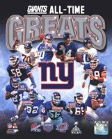New York Giants All-Time Greats Composite Framed Print