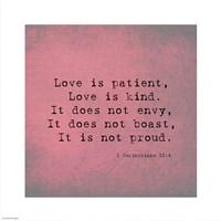 1 Corinthians 13:4 Fine Art Print