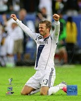 David Beckham Celebrates Winning the 2012 MLS Cup Fine Art Print