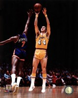 Jerry West 1975 Action Fine Art Print