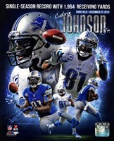 Calvin Johnson Single-Season Receiving Yards Record Portrait Plus Fine Art Print