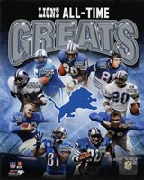 Detroit Lions All Time Greats Composite Framed Print