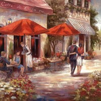 Cafe Afternoon I Fine Art Print