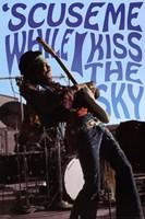 Jimi Hendrix - Kiss the Sky Fine Art Print
