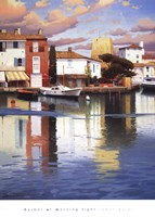 HARBOR AT MORNING LIGHT Fine Art Print