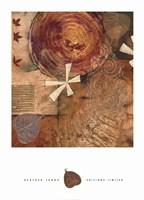 Gilded Leaf IV Framed Print