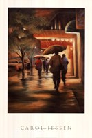 Second Street Drizzle Framed Print