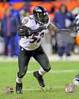 Ray Lewis 2012 AFC Divisional Playoff Game Action Fine Art Print