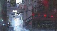Japan Rain Fine Art Print