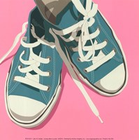 Lowtops (blue on pink) Fine Art Print