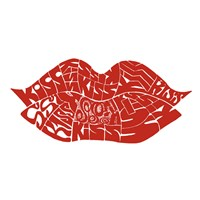 Kiss (on white) Fine Art Print