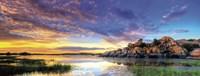 Willow Lake Spring Sunset Fine Art Print