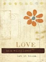 Let Love Bloom Framed Print
