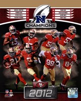 San Francisco 49ers 2012 NFC Champions Composite Fine Art Print