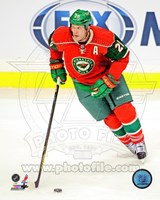 Ryan Suter Passing The Hockey Puck Fine Art Print