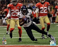 Jacoby Jones running in Super Bowl XLVII Fine Art Print