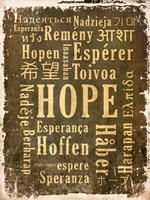 Hope in Multiple Languages Fine Art Print