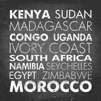 African Countries Fine Art Print