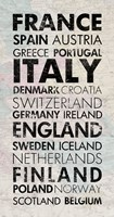 European Countries I Framed Print