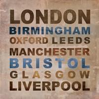 United Kingdom Cities I Fine Art Print