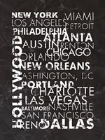United States Cities Fine Art Print